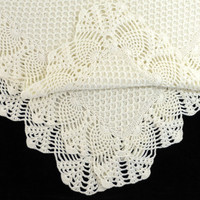 Knitted Baby Blanket - Milk White