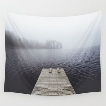Fading into the mist Wall Tapestry by happymelvin