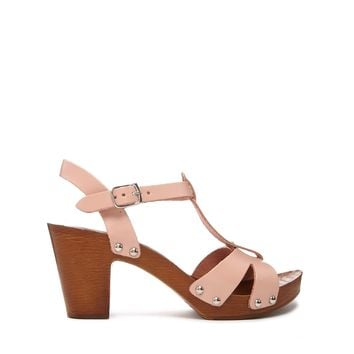 ASOS HOLLAND Leather T-Bar Heeled Sandals