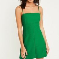 Silence + Noise Audrey Green A-Line Mini Slip Dress | Urban Outfitters