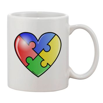 Big Puzzle Heart - Autism Awareness Printed 11oz Coffee Mug by TooLoud