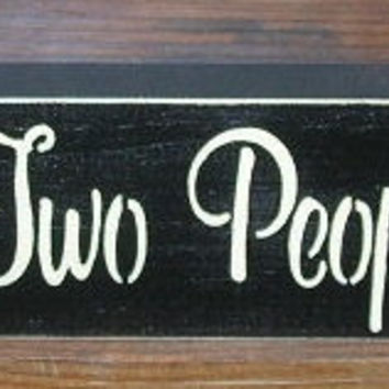 ON SALE TODAY Inspirational Quotes All Because Two People Fell In Love  Painted Wood  Sign You Pick Colors