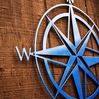 Nautical Compass Rose Metal Sign - Home Decor - Wall Art - Outdoor/Indoor - Durable, Powdercoated