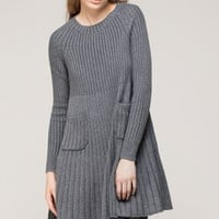 Knitted smock dress