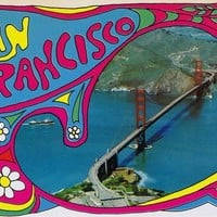 Vintage San Francisco Postcard - Psychedelic - Summer of Love