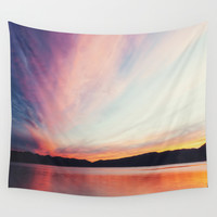 big sky Wall Tapestry by Bonnie Martin