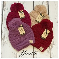 """""""Adorable Me"""" Youth Pom Slouchie CC Beanies"""