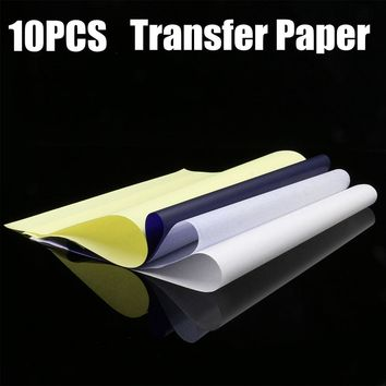 10PCS Thermal Stencil Tattoo Transfer Paper A4 Size Thermal Paper Tattoo Accessories Tattoo Supplies Free Shipping