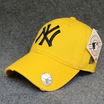 Yellow NY Cotton Baseball Cap