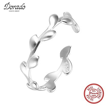 Dorado Newest 925 Sterling Silver Wedding Party LEAVES Silver Infinity Ring for Women High Quality Fine Jewelry