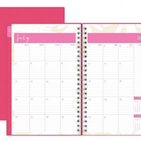 July 2015 - June 2016 Susy Jack Blomma Weekly/Monthly Planner 5x8