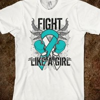 Cervical Cancer Ultra Fight Like a Girl Shirts