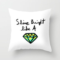 Shine (white background) Throw Pillow by Sandra Arduini | Society6