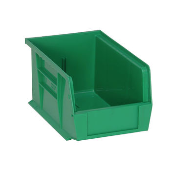 Quantum Storage Systems Ultra Stack And Hang Bin - 9-1/4Lx 6Wx 5H - Green Pack Of 12