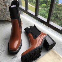 Louis Vuitton Women Fashion Simple Casual High Heeled Boots Shoes