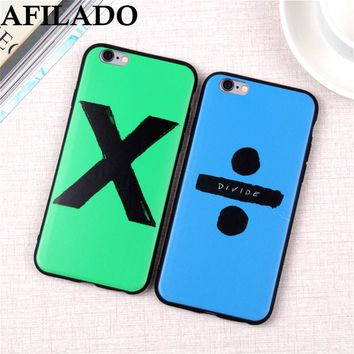 Fashion Ed Sheeran Album Divide Soft Slim Coque Cover for IPhone 6 6s 5 5s Silicone Ultra Thin Phone Case Shell for iphone 6 7 8