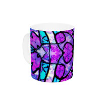 "Art Love Passion ""Kaleidoscope Dream"" Pink Purple Ceramic Coffee Mug"