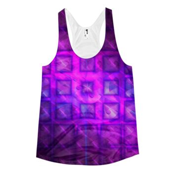 Shiny Square Buttons || Women's racerback tank — Future Life Fashion