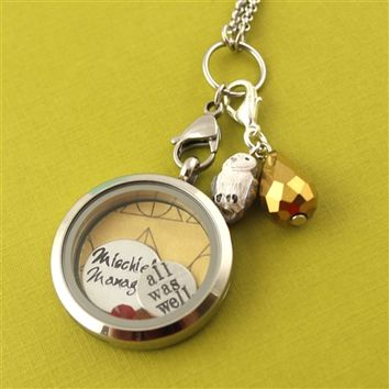 Harry Potter Floating Locket Set - Spiffing Jewelry