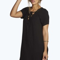 Plus Louise Cross Front Shift Dress