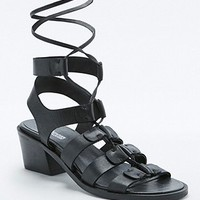 Martha Strappy Black Heels - Urban Outfitters