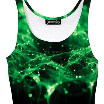 Green Spirits Galaxy Crop Top