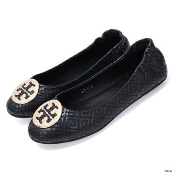 Tory Burch Women Fashion Slip-On Leather Flats Shoes