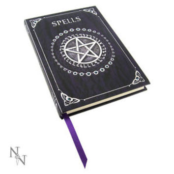 Spell Book Embossed Journal Purple - Blue # 146 Wiccan Pagan Metaphysical Supply