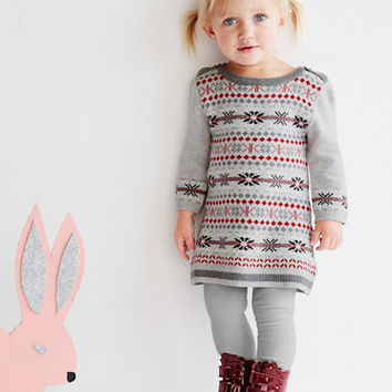 Fair Isle Sweater Dress from EGG by Susan Lazar - Baby Girls