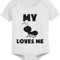 My Aunt Loves Me Funny Baby Onesuits Gift for Niece or Nephew Infant Bodysuits