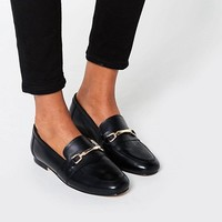 ASOS MOVEMENT Leather Loafers at asos.com