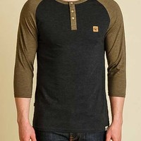 tentree Standard Henley Shirt for Men in Black STA