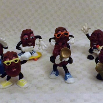 80s The California Raisins Musicians, Skaters Surfers  Set of 10