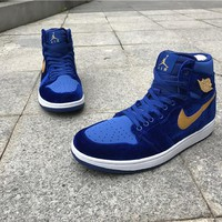 Nike Air Jordan 1 RETRO GS royal blue Basketball Shoes 40-47