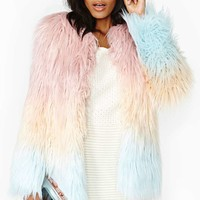 American Retro Marjo Faux Fur Coat