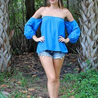 Cobalt Blue Gypset blouse