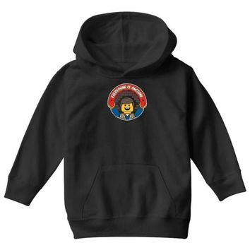 everything is awesome   mens funny lego Youth Hoodie