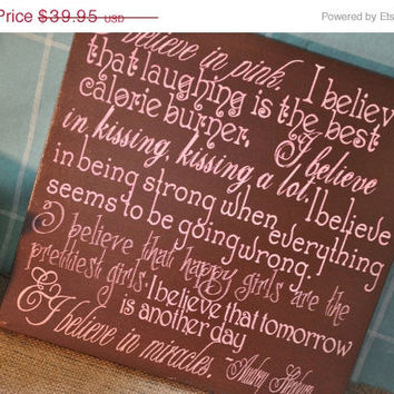 "Thanksgiving Sale Audrey Hepburn Quote ""I Believe.."" - Expressive Art on Canvas wall decor, for Home, Office, Dorm, Bedroom,Family Room wal"