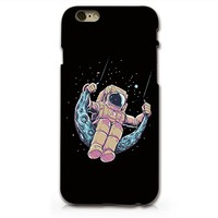 Astronaut And The Moon Hard Black Plastic Phone Case for iphone 6 6s _ SUPERTRAMPshop (iphone 6)