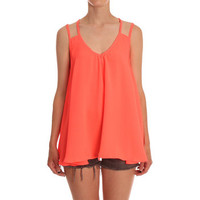 Ark for Women Ark Coral Malia Chiffon Cami Top
