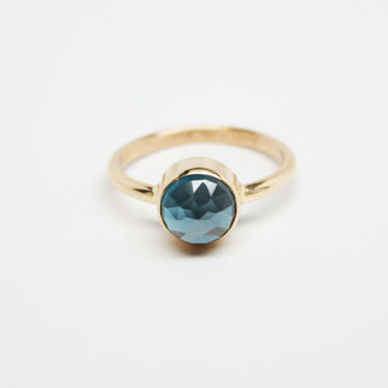 London Blue Topaz 14 K Gold