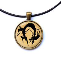 Solid fox hound pendant Metal Gear Solid necklace Fox hound pendant