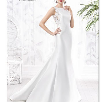 2016 Cheap Abendkeider O-neck With Lace Back Country Western Wedding Dresses Vestido Blanco Robe Demariee KV-024002 Birdal Gown