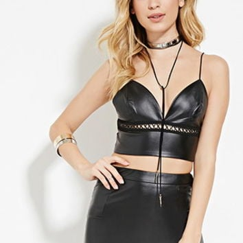 WYLDR Faux Leather Bustier