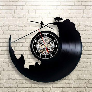 Tight Rope Vinyl Record Wall Clock