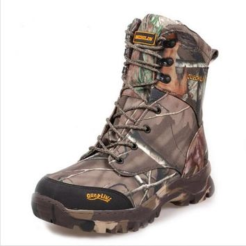 Camo Hunting Boots Realtree AP Camouflage Winter Snow Boots Waterproof Outdoor Camo Boot Hunting Fishing Shoes Size 39-44