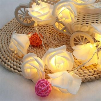 1.2M 10LED Novelty Rose Flower Fairy String Lights 6 Optional Colors LED Lighting Wedding Deco Christmas Garden Bedroom Lumiere
