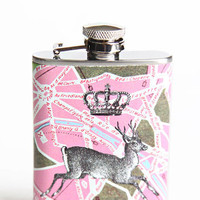 Romance of Travel 3oz Flask - $28.00 : ThreadSence.com, Your Spot For Indie Clothing & Indie Urban Culture