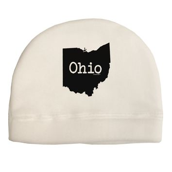 Ohio - United States Shape Adult Fleece Beanie Cap Hat by TooLoud