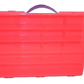 Bright Pink Storage Case for Shopkins & Other Small Toys with 270 Shopkins Stickers & Alphabet Stickers Included